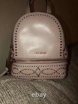 Rare Michael Kors Mini Backpack In Pink And Rose Gold