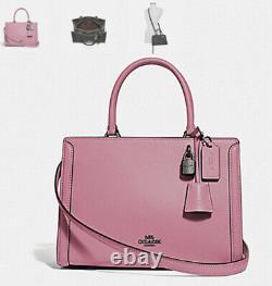 Rare! NWT Coach Leather Small Zoe Carryall Crossbody HandBag in Pink Rose-F72667