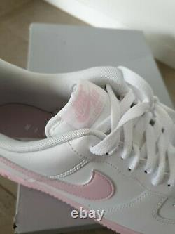 Rare Nike Air Force 1 white pink 9.5 9 low rose red