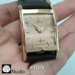 Rare Omega Wrist Watch Solid 18k Rose Gold Salmon Dial Luxsury Man´s Ref. 3946