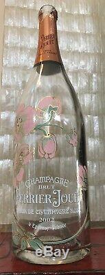 Rare Perrier Jouet Bell Epoque Rose Jeroboam 3 Liter Champagne Bottle Empty
