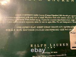 Rare Ralph Lauren Josie Queen Flat Sheet Rose Flower Vintage Shabby Chic New
