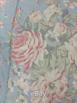 Rare Ralph Lauren Shelter Island Full/queen Comforter Blue Pink Rose Floral