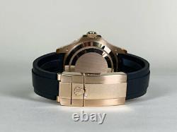 Rare Rolex Yacht-Master 18K Rose Gold Tutti Frutti Watch 116655 in FULL SET