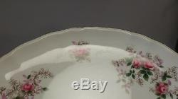 Rare Royal Albert Lavender Rose Round Footed Compote / Cake Pedestal Server