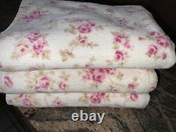 Rare Shabby Chic Rachael Ashwell Rose Floral Bath Towelsrarepink Roses