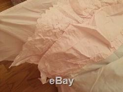 Rare Simply Shabby Chic Rachel Ashwell Bouquet Rose Baby Comforter Complete Set
