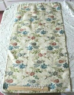 Rare Stunning French Antique 18thC Silk Rose Brocade FabricL-39 X W-20