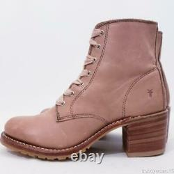 Rare Sz 8.5 Frye X Gal Meets Glam Sabrina 6g Dusty Rose Mauve Pink Leather Boots