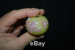 Rare Victorian Webb 3 Color Cameo Tiny Miniature Rose Bowl Cabinet Vase 1880's