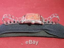Rare Vintage 1940's Clinton Waterproof in a square case withrose gold dial