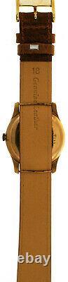 Rare Vintage 1940s Baume & Mercier 18K Pink Rose Gold Watch Fixed Lugs Calatrava