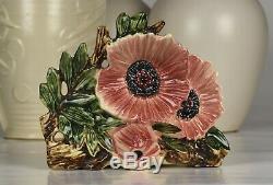 Rare Vintage McCoy Pottery 8 1/2 Rose-Pink Poppy Flower Form Vase c1955