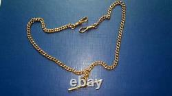 Rare Vintage Men's Chain For Pocket Watch Rose Gold 375 England 24.6 gr 15.7