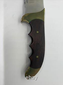 Rare Vintage Rigid R-19 Razorback Bowie knife withRosewood handle & Sheath