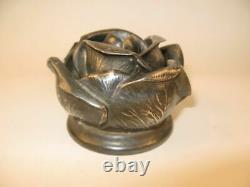 Rare Wallace Silver Vintage Rose Flower Frog