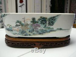 Rare and Chinese porcelain famille rose planter 19thC Guangxu period no mark