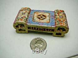 Rare important Chinese porcelain famille rose ink pat brush stand 18thC Qianlong