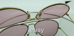 Ray Ban Pink Aviators Vintage Bausch and Lomb Edition 58mm Rose Sunglasses Rare