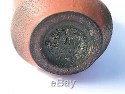 Rose Truchnovskky Vase Rare Shape Quebec Pottery Canada