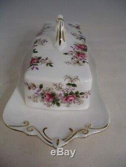Royal Albert Lavender Rose Butter Dish 1st Quality Bone China British Rare