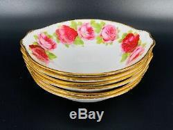 Royal Albert Old English Rose Soup Bowls with Handle x 6 Bone China England Rare