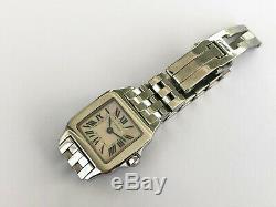 SANTOS DE CARTIER Rose MOP 2698 Demoiselle Rare Excellent Ladies Swiss watch