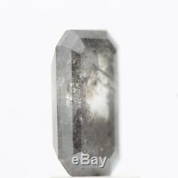 Salt and Pepper Diamond, 1.45 Cts Rare Natural Loose Emerald Rose Cut Diamond