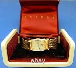Serviced & Warranty Men Bulova 1947-rare- Pink (rose) 10k Gold G. F. Case/band