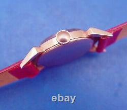 Serviced & Warrantym Elgin 1952 Red Knightrare-pink/rose G. F. Coned Crysta