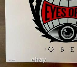 Shepard Fairey Obey Giant EYES OPEN ROSE Signed Numbered Screen Print RARE
