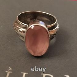 Silpada R1055 Size 6 Sterling Silver Pink Rose Quartz Ring VERY RARE