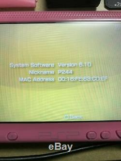 Sony Playstation PSP 1K Pink 1004 PSP-1004 Rare Rose Tested Works Collector 1 K