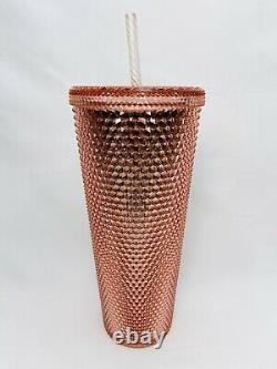Starbucks 2019 Rose Gold Studded Cup Tumbler Venti RARE HTF CLEAN