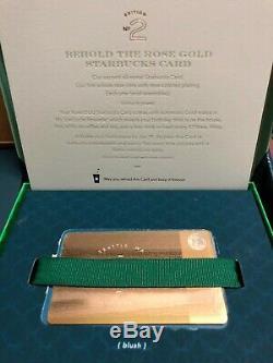 Starbucks Rose Gold Metal Card ULTRA RARE