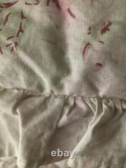 Stunning RARE Rachel Ashwell Treasures Ruffled F/Q Roses Fluffy Comforter EXC