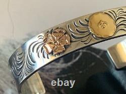 Super rare! Genuine Goro bracelet arabesque gdouble rose eagle handmade old