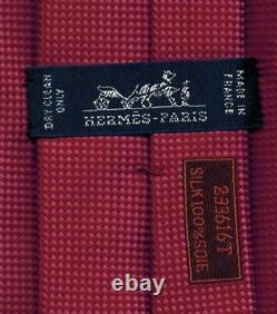 Sweet Hermes Woven Solid Silk Tie Saint-Honoré Pink/Rose Ltd Edition Ex Rare