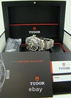 TUDOR 79220N Heritage Black Bay Black Rose (Smiley) RARE FULL SET