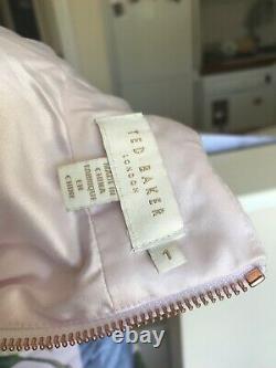 Ted Baker Rare nude Distinguishing Rose'RAVINA' pencil midi dress 1 8 36 Us 4