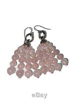 Tiffany & Co RARE 1995 Rose Quartz Sun Interchangeable Earrings