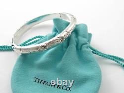 Tiffany & Co RARE Nature Flower Rose Bangle Bracelet