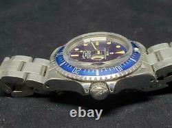 Tudor Small Rose Submariner Blue dial Ghost-Bezel Rare Used 39mm Ref. 7016/0 F/S