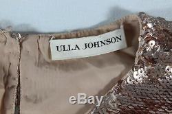 Ulla Johnson New $495 Puff-sleeve Rae Sequin Blouse/top (rare Rose Gold!) 4