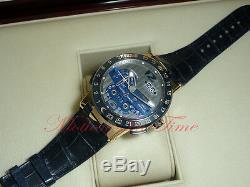 Ulysse Nardin El Toro BLUE Perpetual Calendar GMT ± Rose Gold 43mm 326-00 RARE