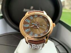 Very Rare Audemars Piguet Millenary 18K Rose Gold Brown Dial Watch in FULL SET