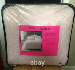 Very Rare Betsey Johnson Inverse Rose Full Queen Comforter + Sham Set