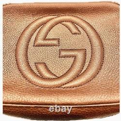Very Rare Gucci Soho Disco- Metallic Rose Gold