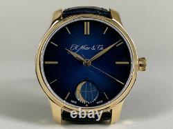 Very Rare H. Moser & Cie 18K Rose Gold Endeavour Moon Watch 1348-0100 FULL SET