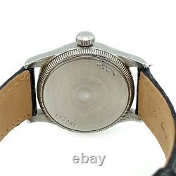 Very Rare Rolex 1950's Speedking with Rose Gold Numerals on Black Dial